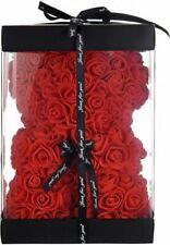 "Red Rose Bear Flower Teddy 15"" Gift for Wedding Birthday Valentine's Day"
