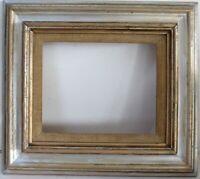 VINTAGE ART DECO  GILDED/ SILVER WOOD FRAME FOR PAINTING  10  x 8  INCH