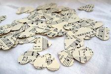 Vintage Sheet Music Hearts ~ Scrapbooking ~ Confetti