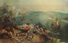 Pieter Brueghel The Elder THE FALL OF ICARUS Vintage Lithograph RENAISSANCE #568