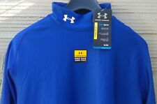 COLD GEAR COMPRESSION BASE LAYER TOP by UNDER ARMOUR BLUE MEN'S UK  XL, NEW (tf)