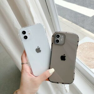 For iPhone 12 11 XS Pro Max XR X 7 8 6 Plus Shockproof Soft TPU Clear Case Cover