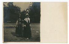 Girls in Costumes RPPC Halloween? Egyptian & Pilgrim? Theater? Photo 1910s