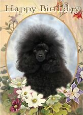Poodle Dog Design A6 Textured Birthday Card BDPOODLE-7-black-toy by paws2print