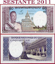 (com) LAO / LAOS   -    50  KIP nd 1963  -   P 12   -   UNC
