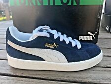 d286bbb5e0ed Puma Suede Classic Blue   White Fashion Sneakers Youth Boys Size ...