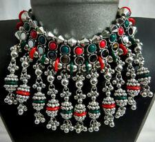 Oxodise Kuchi Tribal Earring Gypsy Belly Dance Choker Necklace Set Sari Jewelry