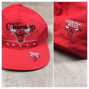 90s VTG CHICAGO BULLS TWINS SNAPBACK Hat Side Logo Split Bar Double NBA og