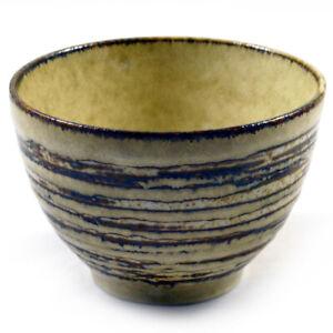 Tsukemen Ramen Soup Bowl Ringed Grey & Brown Glazed Japanese Ceramic Bowls