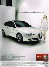 Publicité advertising 2007 Alfa Romeo Alfa 147 Diesel 120 ch Distinctive