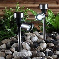 Chrome Contemporary LED Garden Lighting Equipment