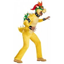 Deluxe Bowser Costume Mario Brothers Halloween Fancy Dress