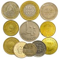 10 COINS FROM BAHRAIN OLD COLLECTIBLE COINS MIDDLE EAST ARABIA ISLAND FILS