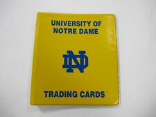 1990 Notre Dame Collegiate Collection Trading Cards Complete Set w/ Rare Binder!