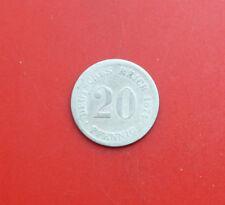 Deutsches Reich: 20 Pfennig 1874-F, Preussen , #F 2687, S-F, Silber