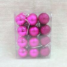 24Pcs Glitter Christmas Balls Baubles Xmas Tree Hanging Ornament Home Decor