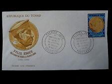 TCHAD  AERIEN 97  PREMIER JOUR   FDC     FELIX EBOUE, OR    200F      1971