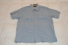 Authentic Tommy Hilfiger Vintage Blue Military Style Shirt Jacket Mens Size L