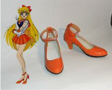 Hot Anime Sailor Moon Sailor Venus Aino Minako Cosplay shoes Custome Customized