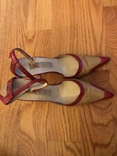 Michael Kors Red And Camel Heels Size 6