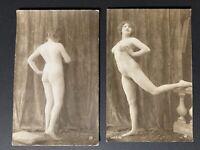 Original Antique 1910c. Jean Agelou Serie 95 Nude Girl Female Photo Pinup