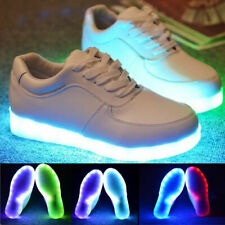 Unisex 7 LED Light Lace Up Luminous Sneaker Men Women Casual Shoes US SELLER!!