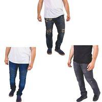 Men's Fashion Ripped Slim Straight Distressed Zipper Biker Jeans