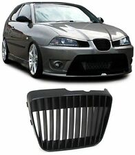 BLACK DEBADGED SPORTS BONNET GRILL FOR SEAT IBIZA + CORDOBA 09/1999 - 03/2002