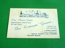 Cartolina Fusaro ( Napoli ) - Bar Ristorante Genova 1940 ca