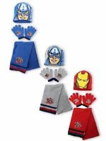 Para Niños Marvel Avengers Gorro De Invierno guantes y bufanda Set 3 Piezas set