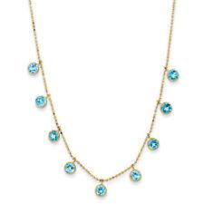 Collar de joyería de oro amarillo topacio