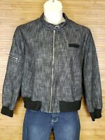 Larry Levine Gray Heathered Stretch Full Zip Jacket Womens Size XL EUC