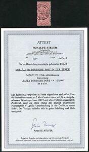 DP Türkei 1899 Innendienst Paar V 37 f + Plattenfehler V ° Jaffa Attest BPP / 47
