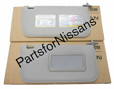 GENUINE NISSAN FRONTIER XTERRA 2002-2004 GREY CLOTH LH RH MIRROR SUNVISOR KIT