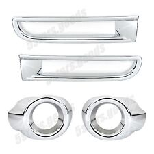 Accessories Chrome Front + Rear Fog Light Covers For Mitsubishi Lancer Sedan