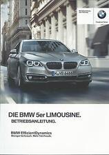 BMW 5er LIMOUSINE F10 Betriebsanleitung 2015 2016 Bedienungsanleitung BA