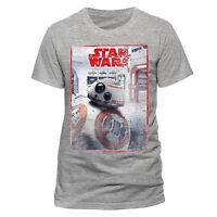 Official Star Wars 8 the Last Jedi BB8 Reveal T-shirt Grey S M L XL XXL