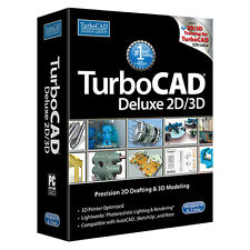 TurboCAD Deluxe 2017 CAD Design Software. Retail Box DVD