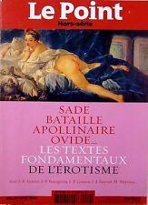 SADE_BATAILLE_APPOLINAIRE_OVIDE=> les textes fondamentaux de l'EROTISME