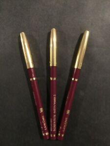 Lancôme Le Crayon Contour Color Lip Pencil Bordeaux Full Size - New SET OF 3