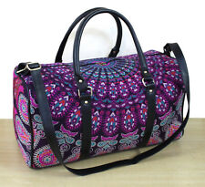 New Indian Cotton Adjustable Strap Handmade Ethnic Luggage Bag Sports Duffel Bag