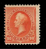 US 1890 Sc# 229 90 c Orange PERRY - Mint HR - Crisp Color