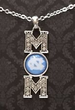 """New North Carolina Tar Heels Mom 16"""" Necklace, NCAA, Charm, Gifts for Her Mom"""