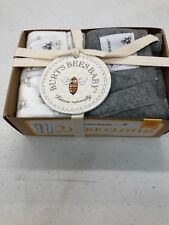 Burts Bees Baby Burp Cloths 1 Gray 1 White / 2 pack one size Organic Nip