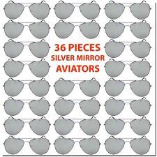 Wholesale Aviator Sunglasses Silver Mirror 36 Piece Set Bulk Lot All New Deal