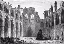 ÉCOSSE - RUINES de la CHAPELLE d'HOLYROOD - Gravure du 19e siècle