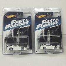 HOT WHEELS 2 X  FAST AND THE FURIOUS 94' TOYOTA SUPRA ( NEW PROTECTO PAK )
