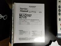 SERVICE MANUAL PIONEER MJ-D707/MJ-17D MINIDISC RECORDER(COPY) BOOK REPORT FORMAT