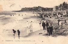 WIMEREUX 61 LL la plage et le cap gris-nez timbrée 1904