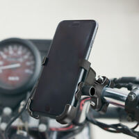 Black QC 3.0 12V Motorcycle ATV Handlebar Holder Mount USB Charger For GPS Phone